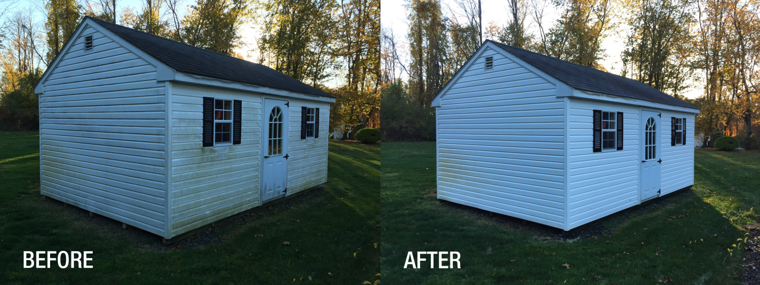 power washing before and after photo