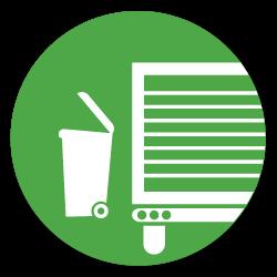 load trash bin into truck icon