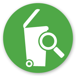inspect trash bin icon