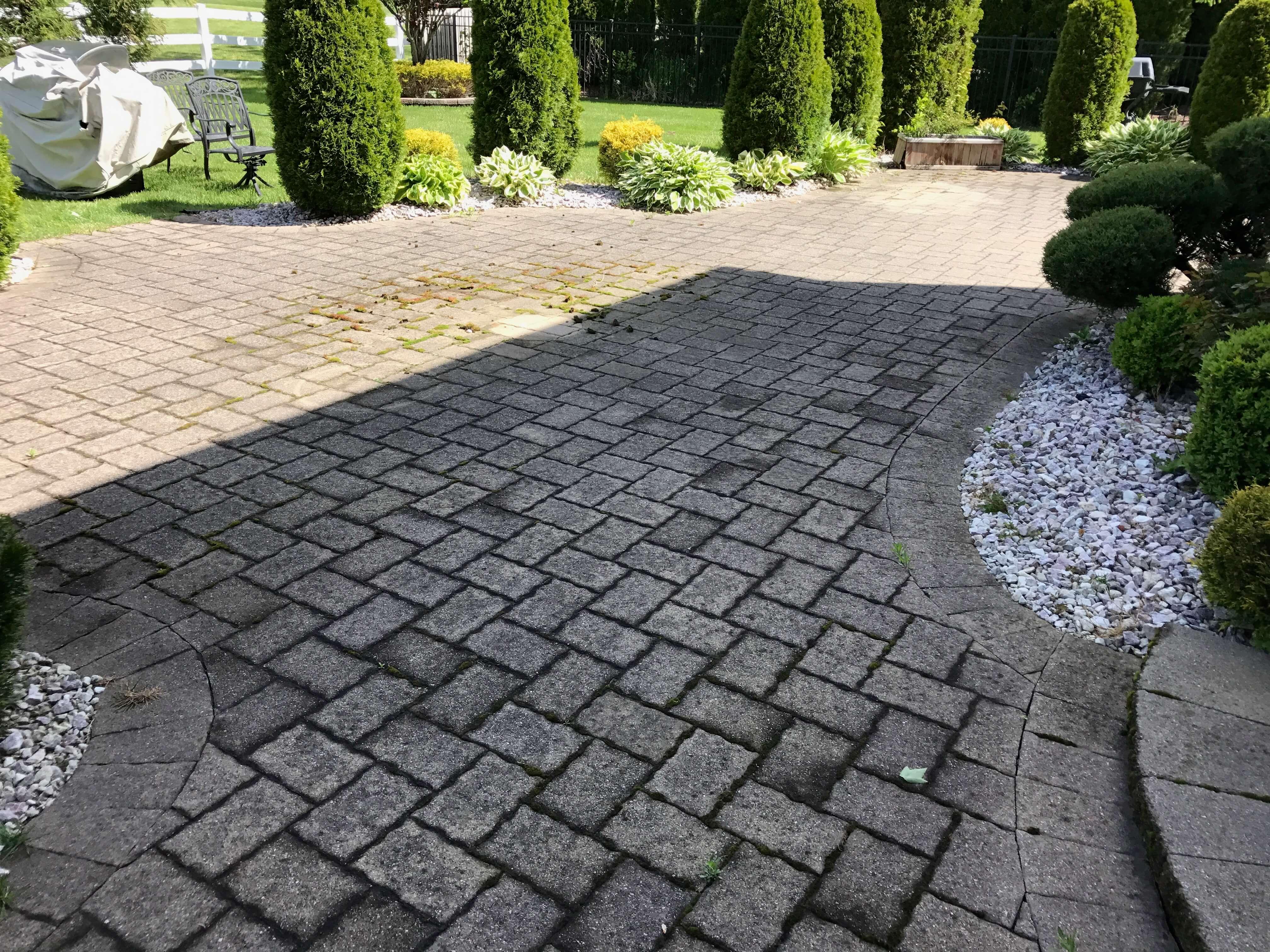 paver restoration before image